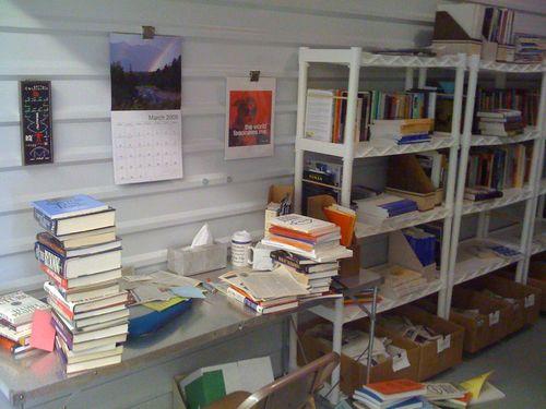 Book storage cage