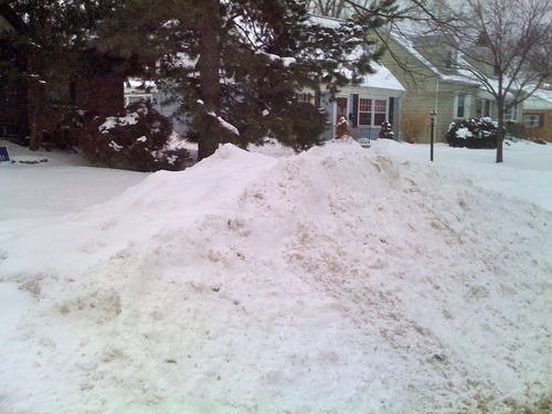 Snow piles as of Jan 29th