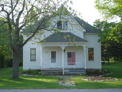 House with American flag  (Door County WI)
