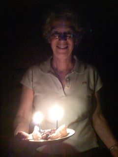 Connie with my 65th birthday cake