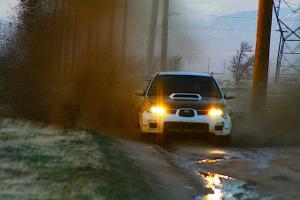 Subaru in mud