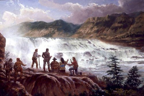 Lewis And Clark At The Great Falls
